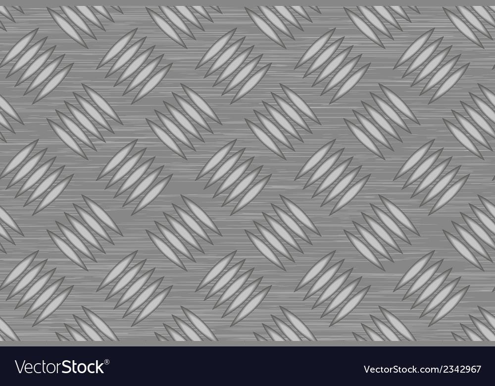 Seamless steel diamond plate vector | Price: 1 Credit (USD $1)