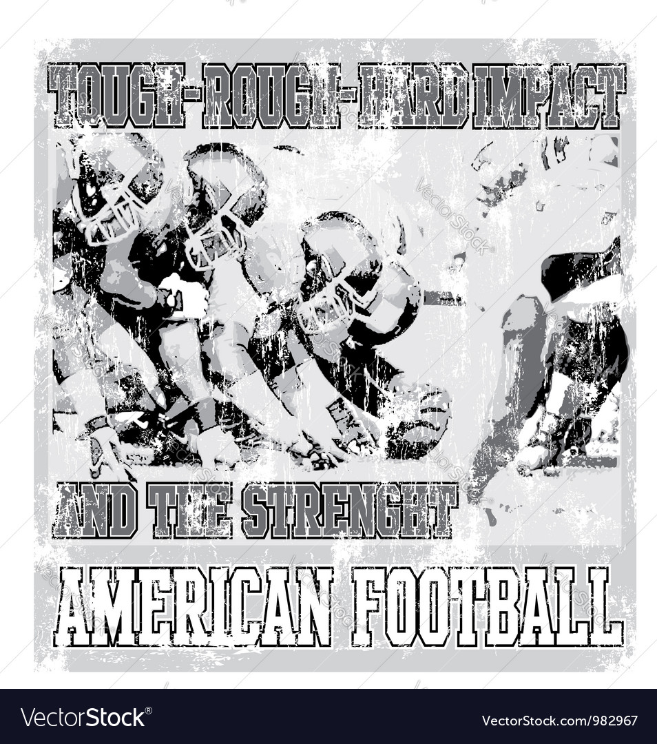Tough rough american football crack vector | Price: 1 Credit (USD $1)