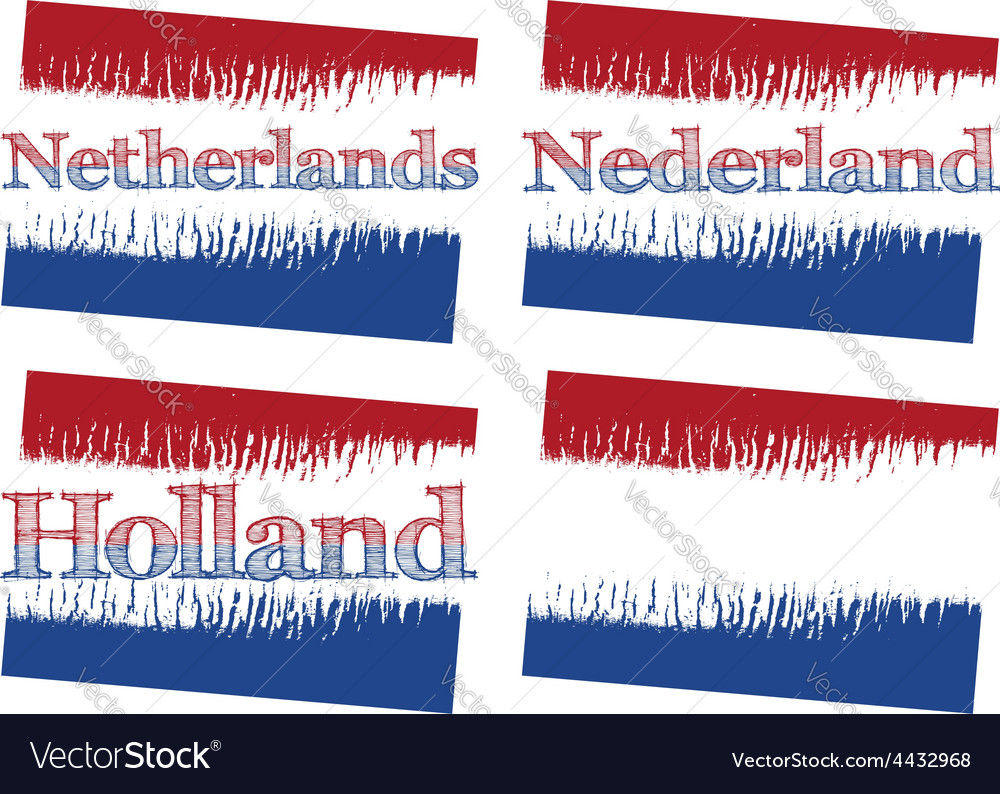 Abstract flag of netherlands vector | Price: 1 Credit (USD $1)