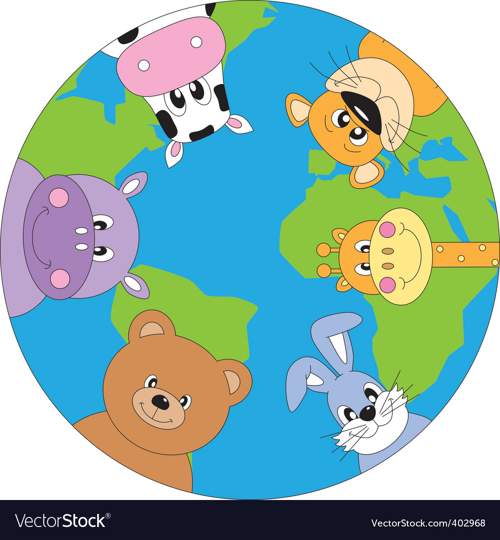 Animals world vector | Price: 1 Credit (USD $1)
