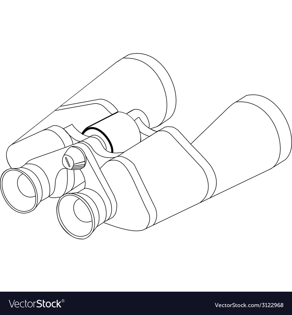 Binoculars line vector | Price: 1 Credit (USD $1)