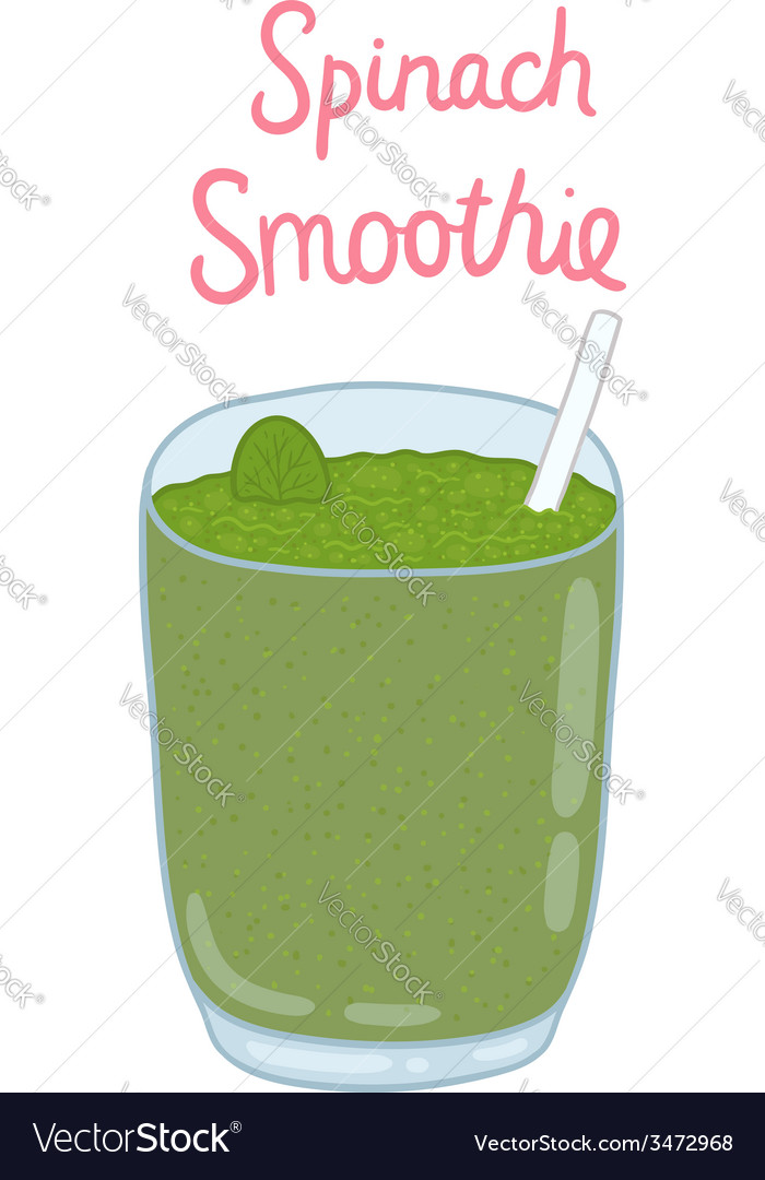 Cartoon hand drawn spinach smoothie vector | Price: 1 Credit (USD $1)