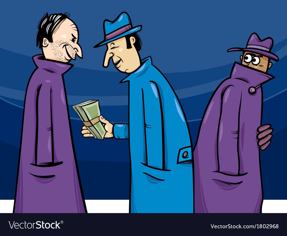 Crime or corruption cartoon vector | Price: 1 Credit (USD $1)