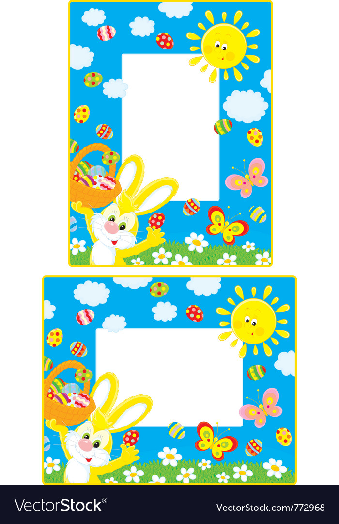Easter borders vector | Price: 3 Credit (USD $3)