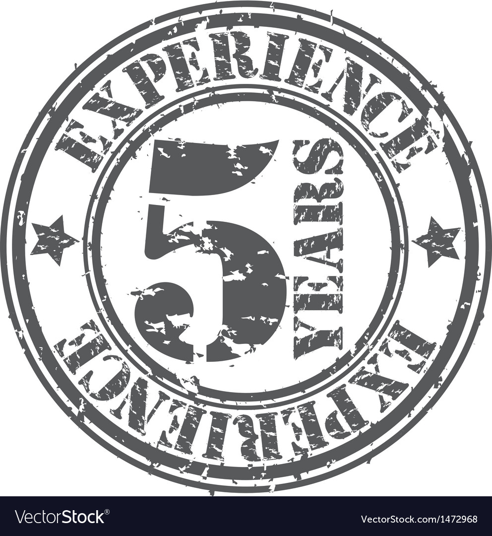 Grunge 5 years of experience rubber stamp vector | Price: 1 Credit (USD $1)