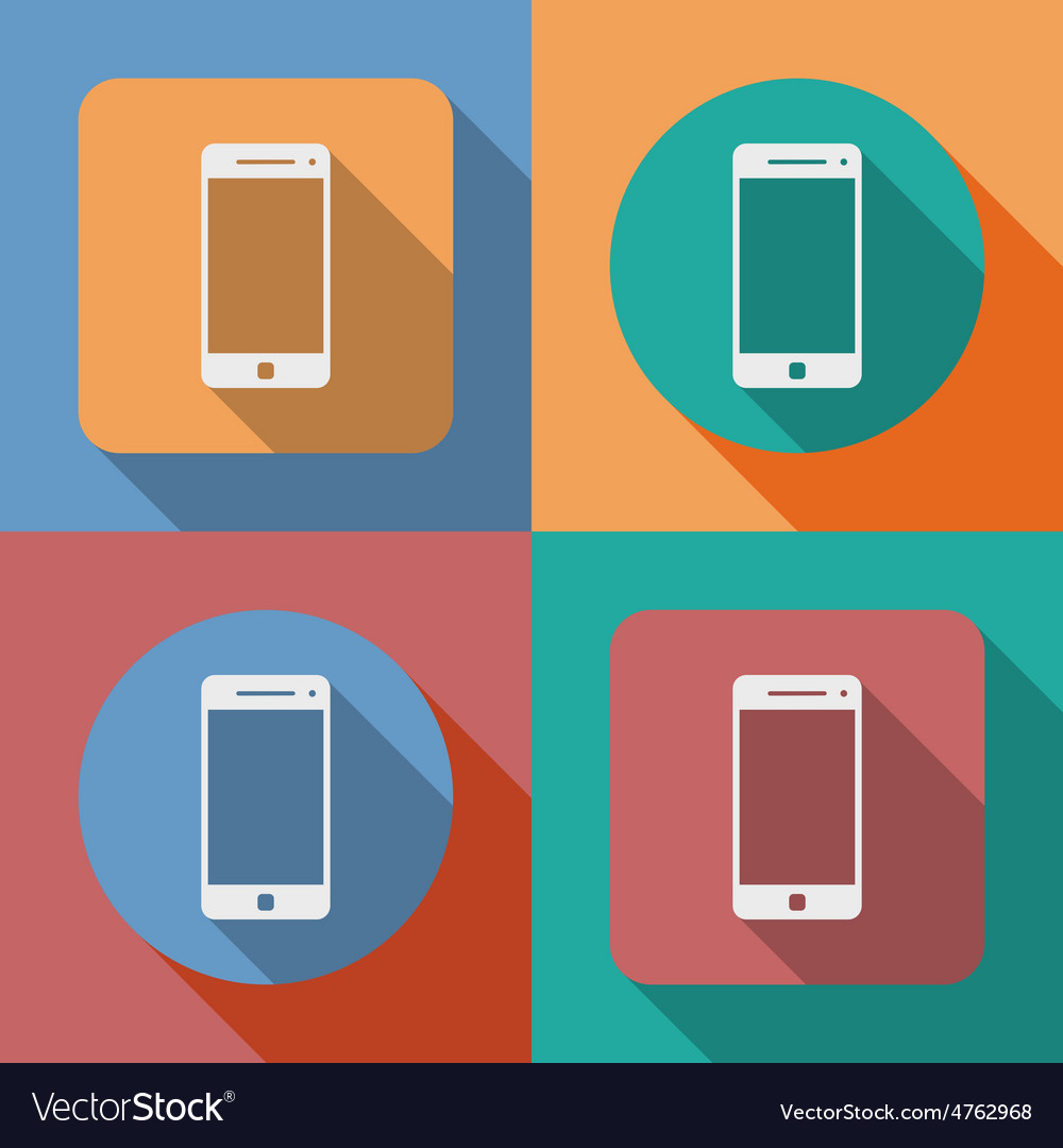 Icon of smartphone mobile phone vector | Price: 1 Credit (USD $1)