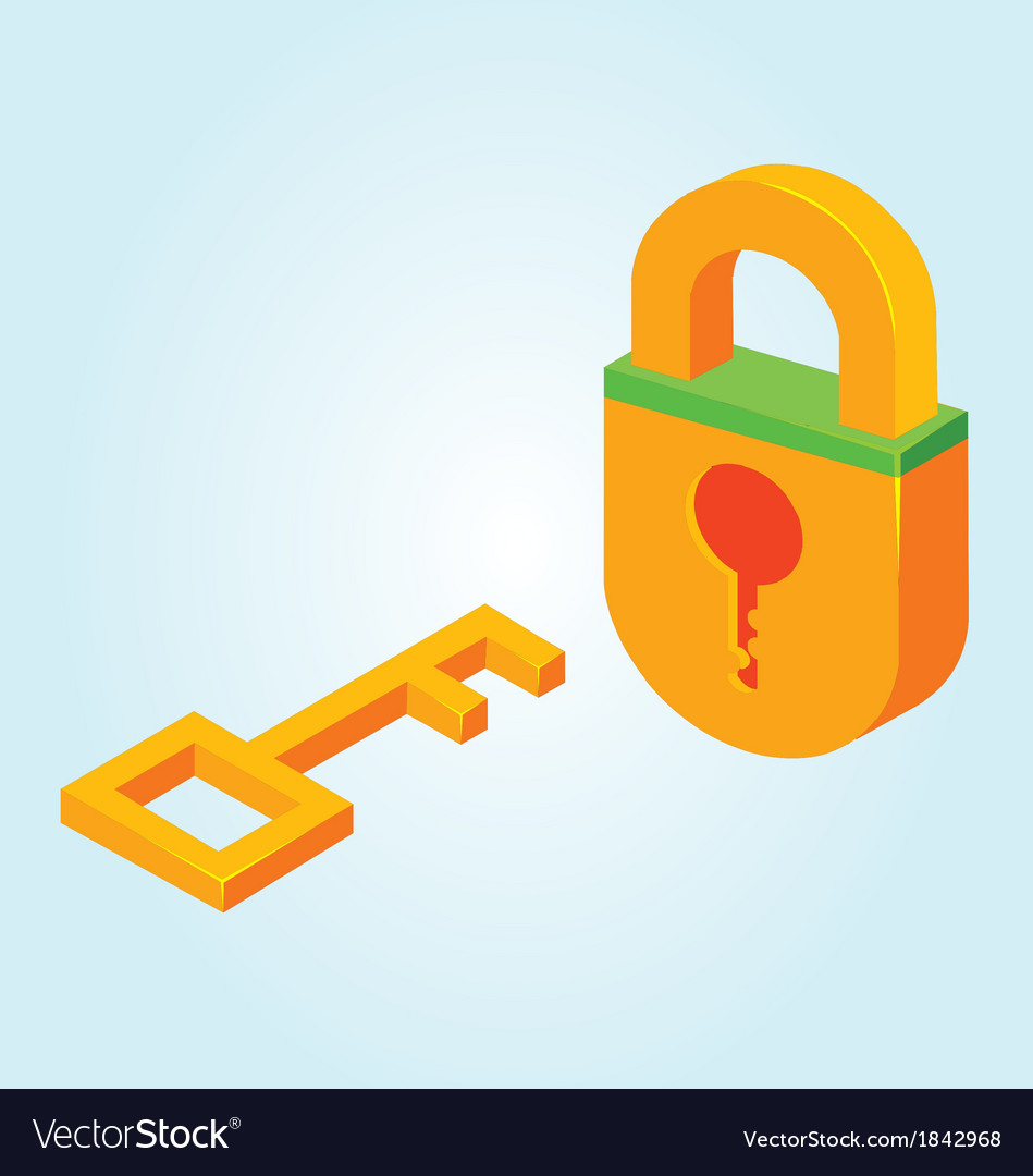 Key and padlock vector | Price: 1 Credit (USD $1)