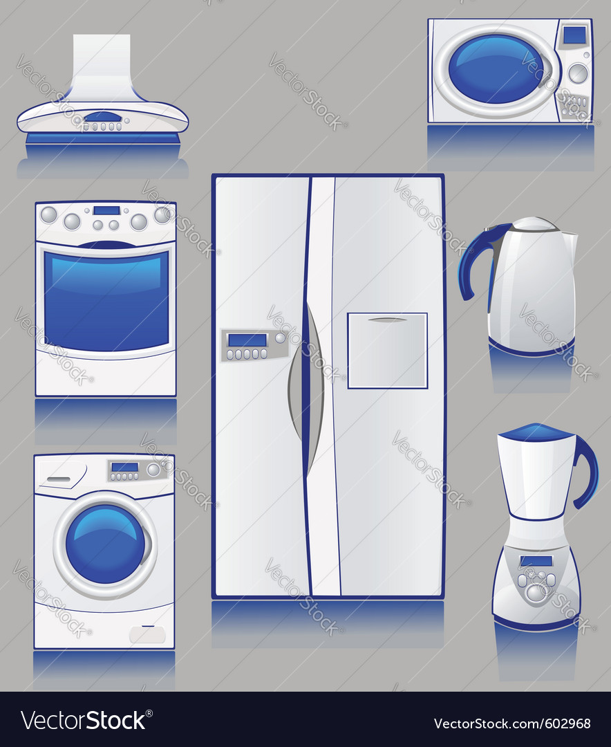 Kitchen appliances vector | Price: 1 Credit (USD $1)