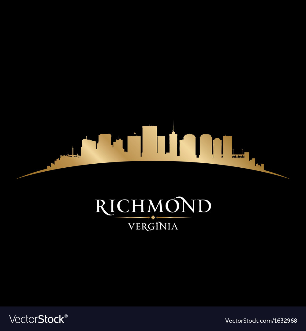 Richmond virginia city skyline silhouette vector | Price: 1 Credit (USD $1)