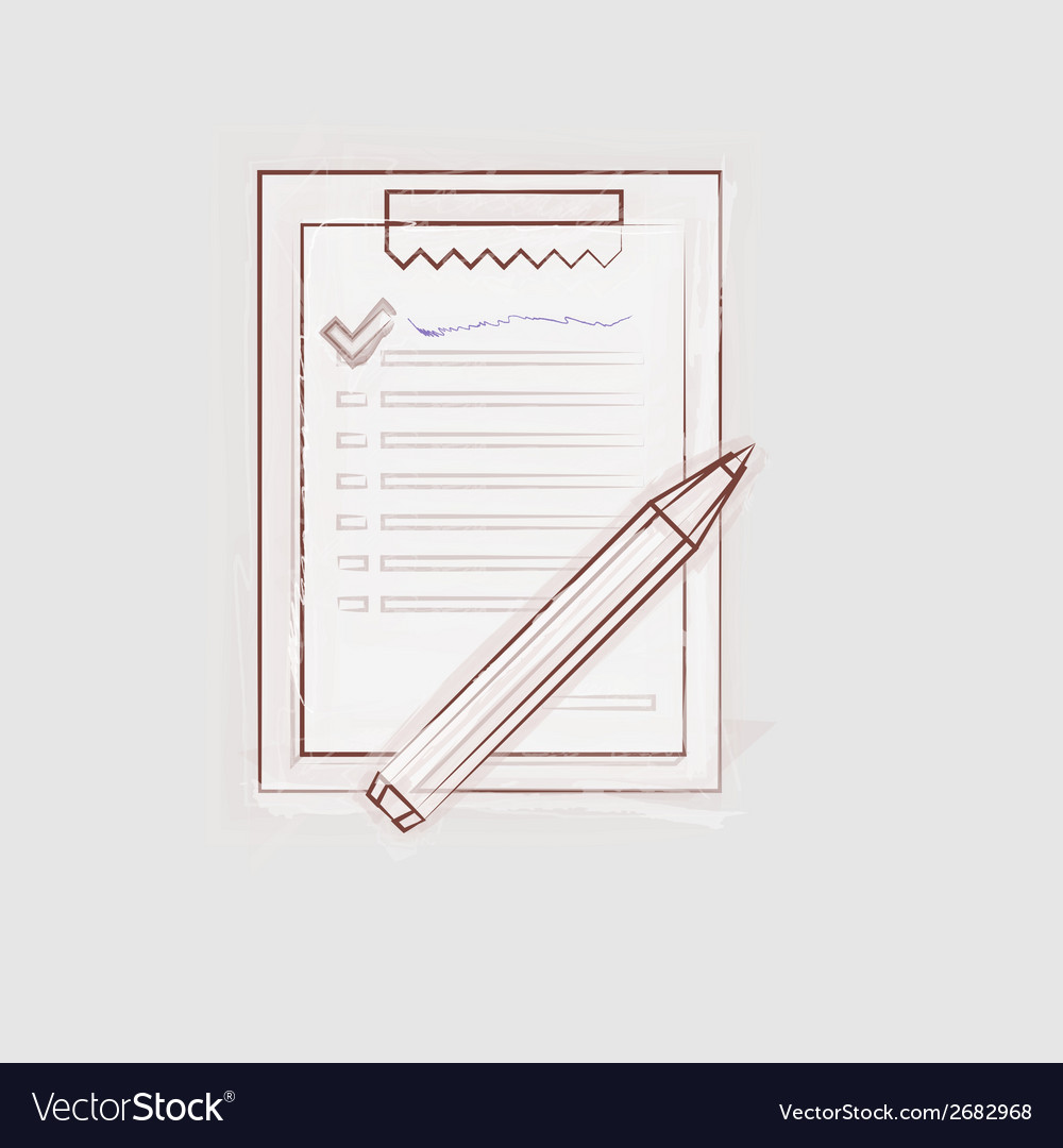 Sketch of clipboard for outsource vector | Price: 1 Credit (USD $1)