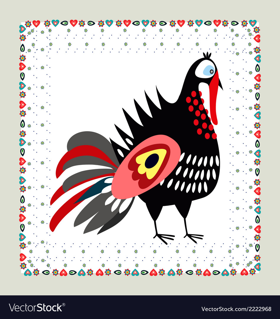 Turkey embroidery vector | Price: 1 Credit (USD $1)
