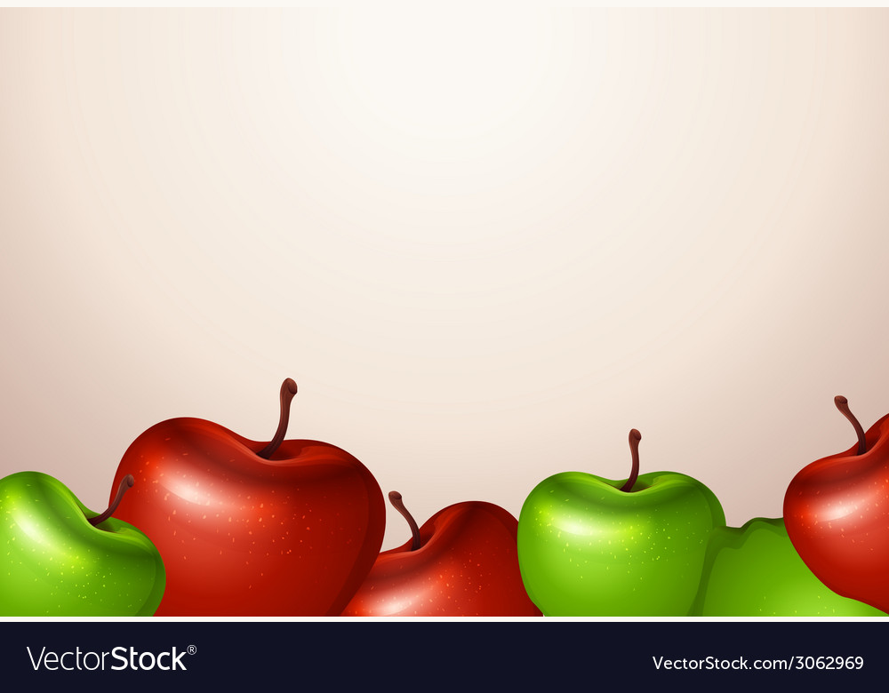 A template with red and green apples vector | Price: 1 Credit (USD $1)