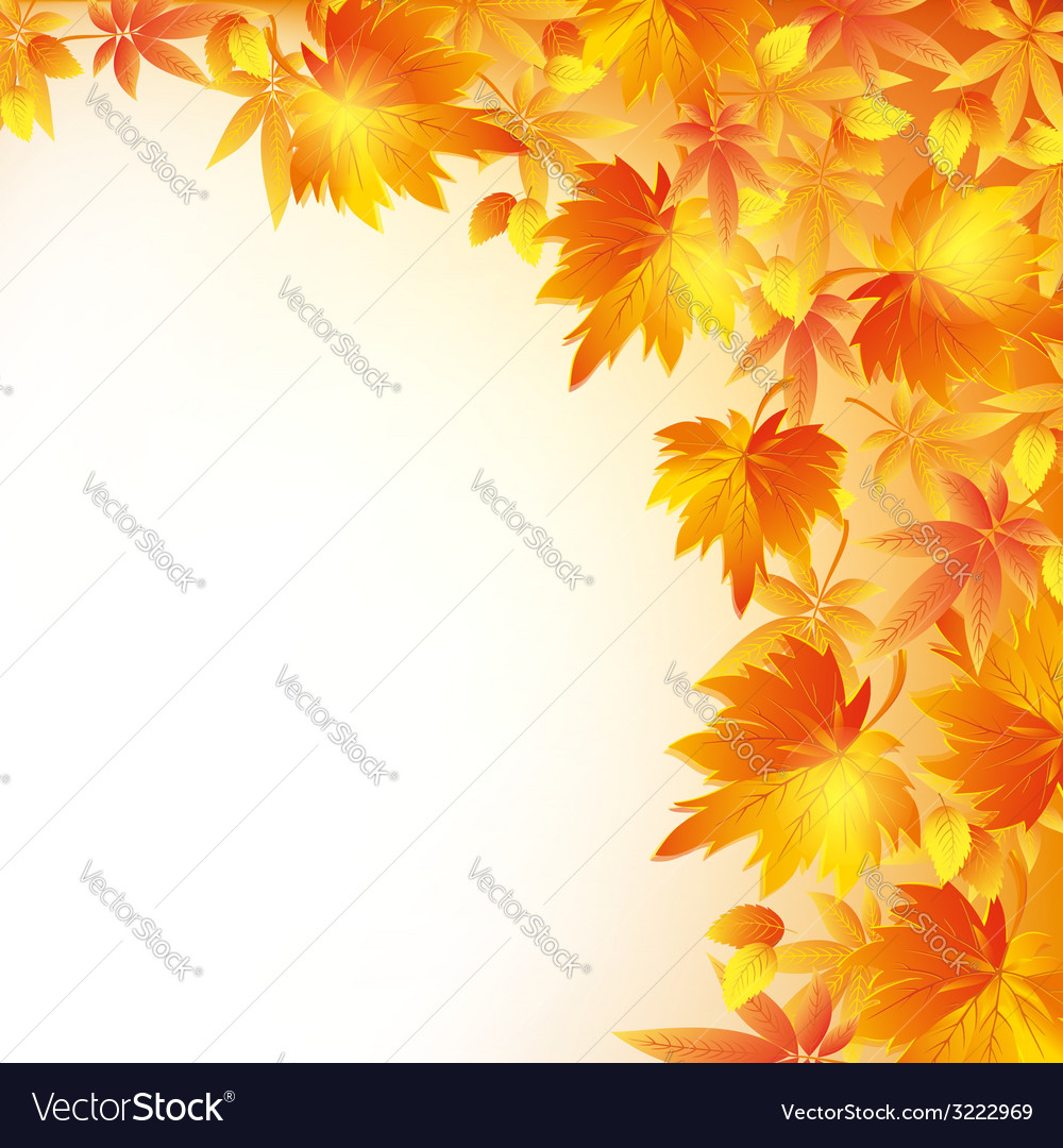 Autumn golden background with leaf fall vector | Price: 1 Credit (USD $1)