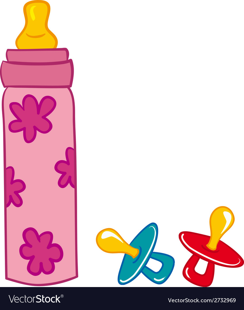 Baby bottle and pacifier vector | Price: 1 Credit (USD $1)