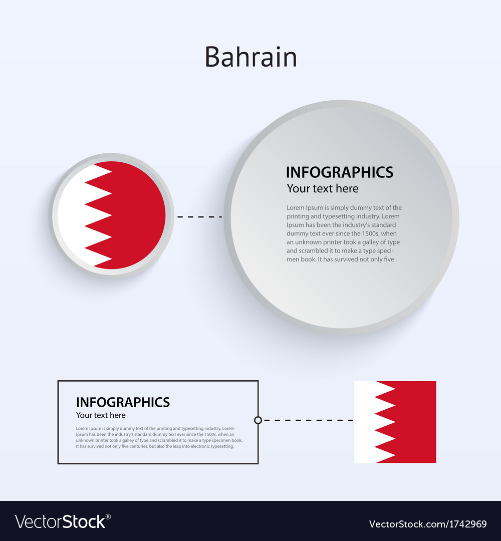 Bahrain country set of banners vector | Price: 1 Credit (USD $1)