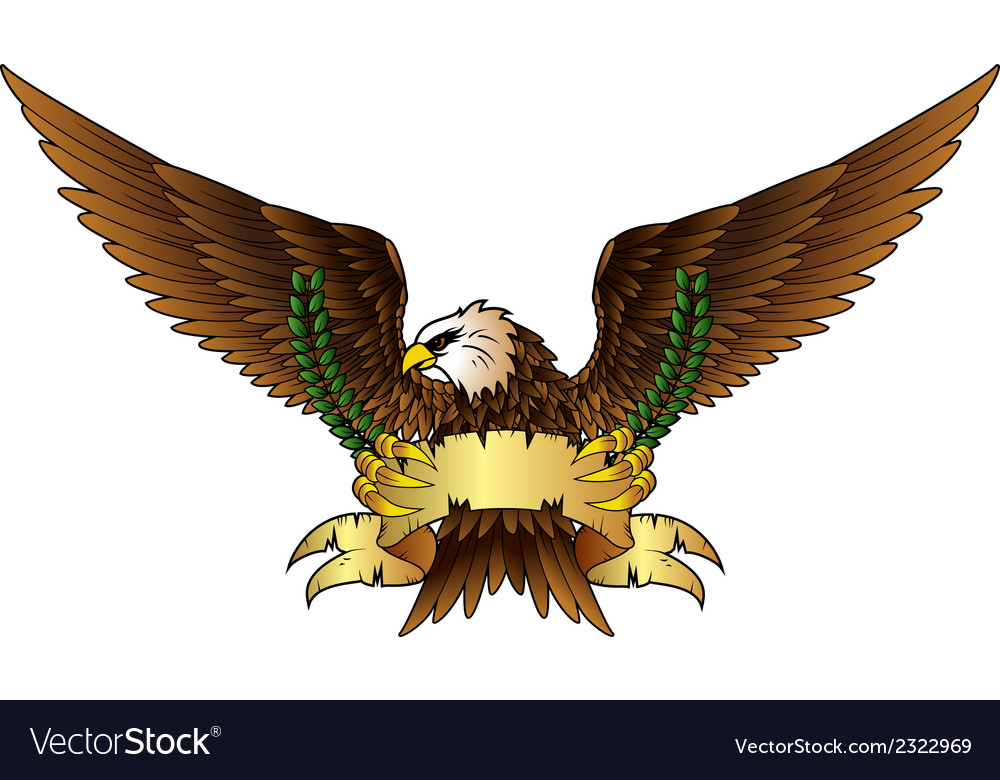 Fury spread winged eagle vector | Price: 1 Credit (USD $1)