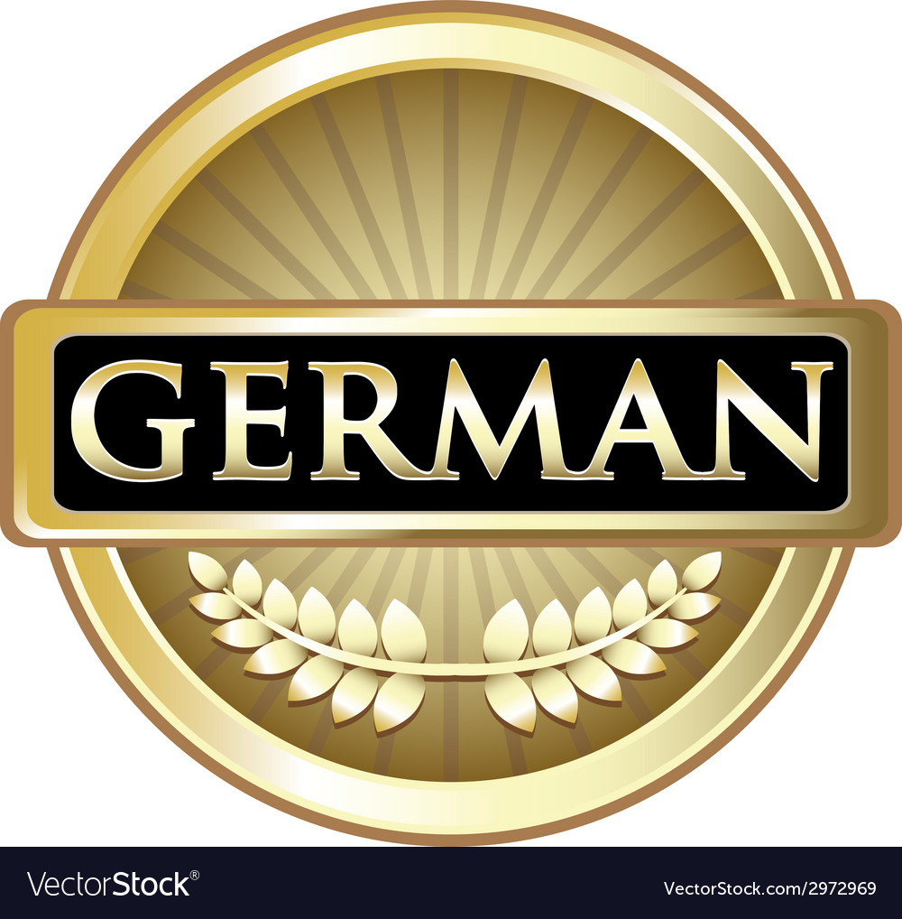 German gold label vector | Price: 1 Credit (USD $1)