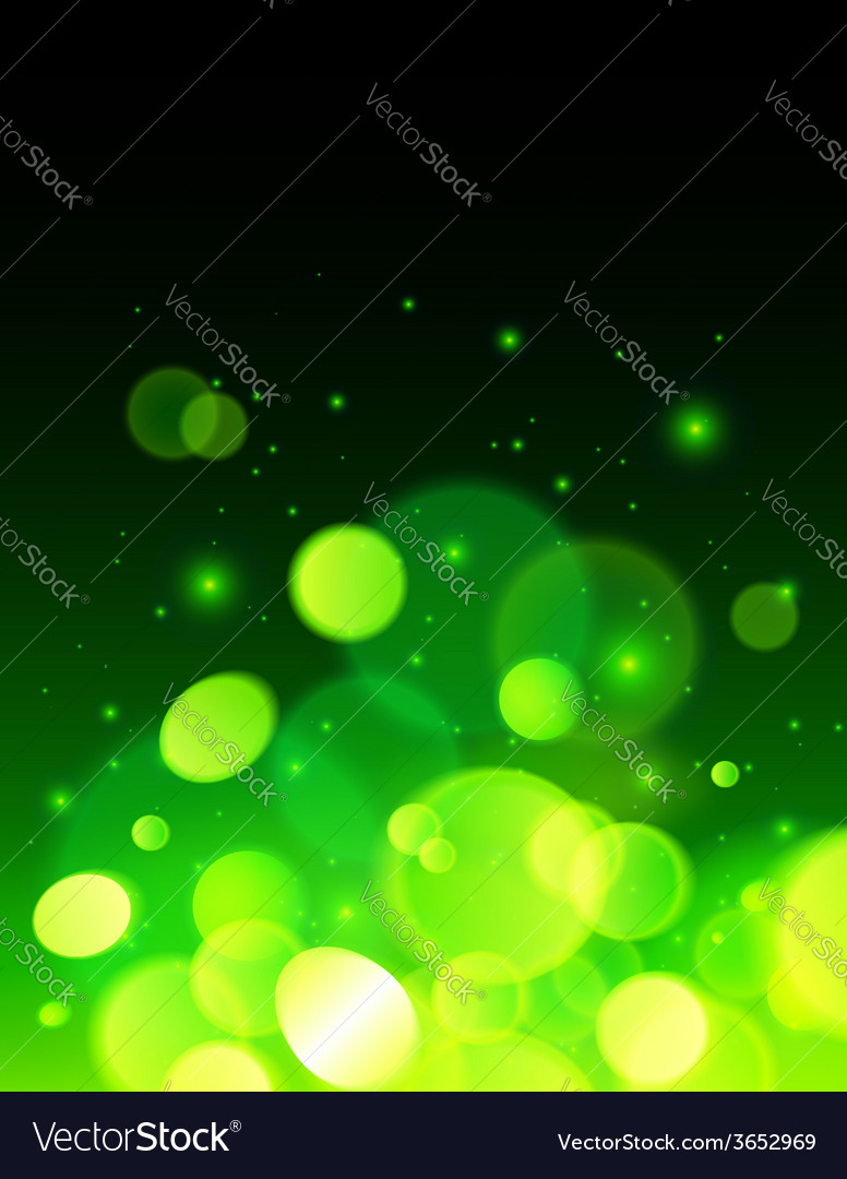 Green abstract bokeh effect background vector | Price: 1 Credit (USD $1)