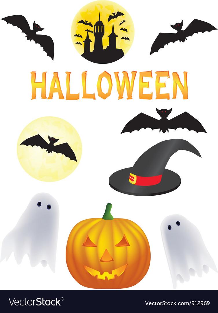 Halloween symbols vector | Price: 1 Credit (USD $1)