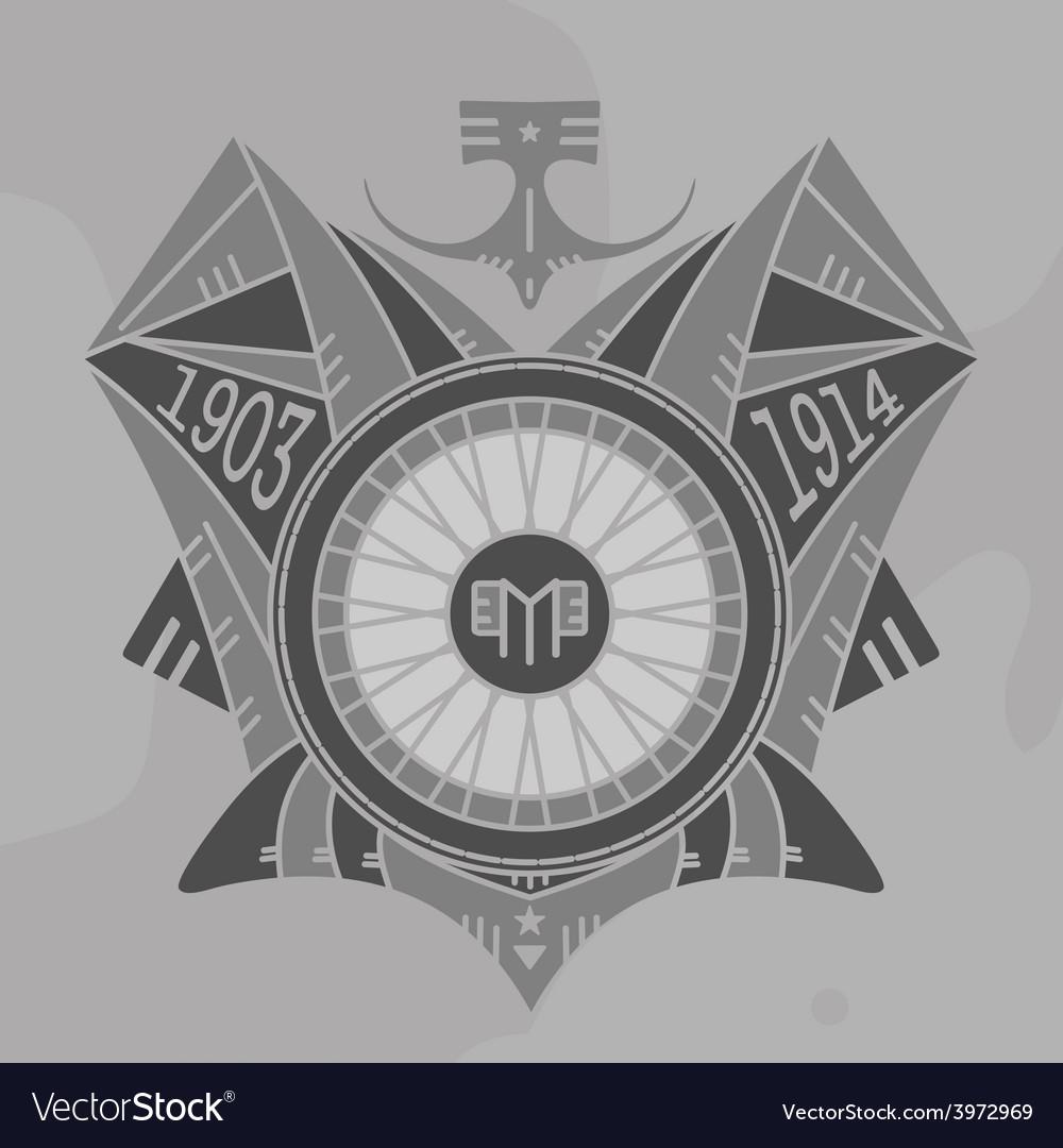 Motor emblem monochromevs vector | Price: 1 Credit (USD $1)