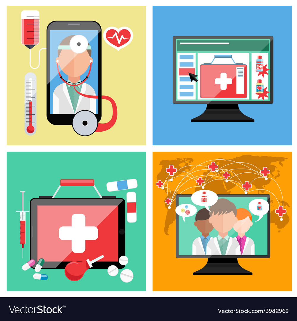 Online doctor concept vector | Price: 1 Credit (USD $1)