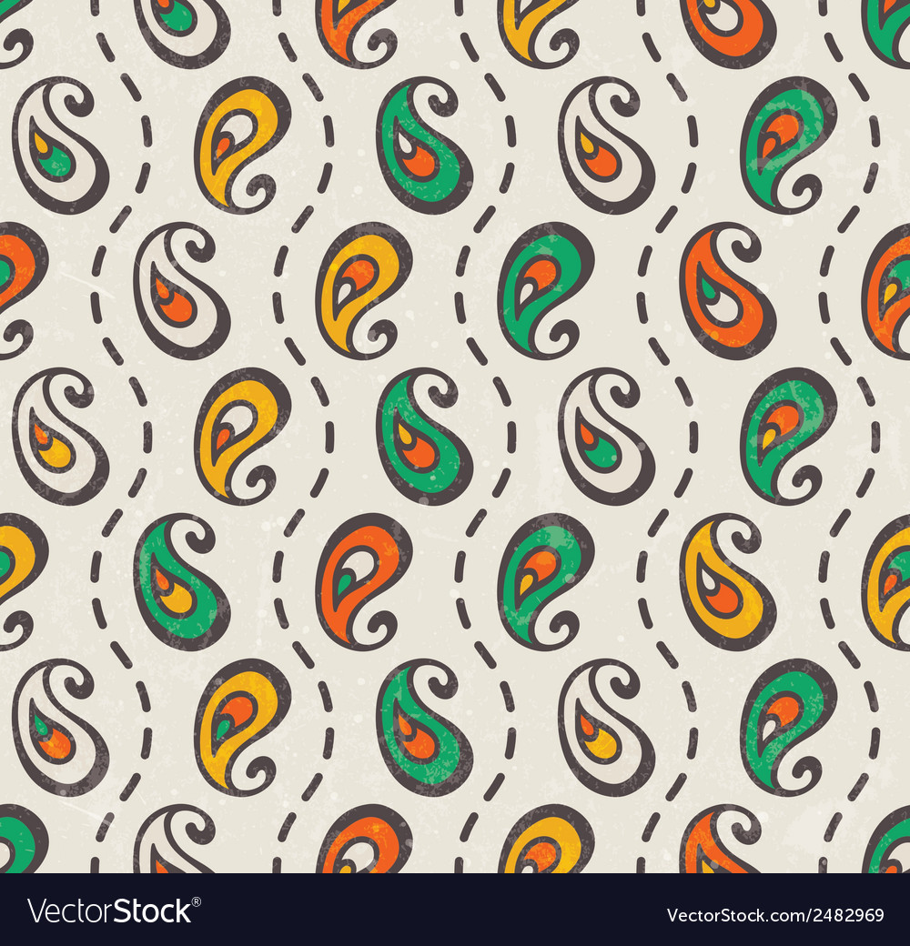Paisley seamless print vector | Price: 1 Credit (USD $1)