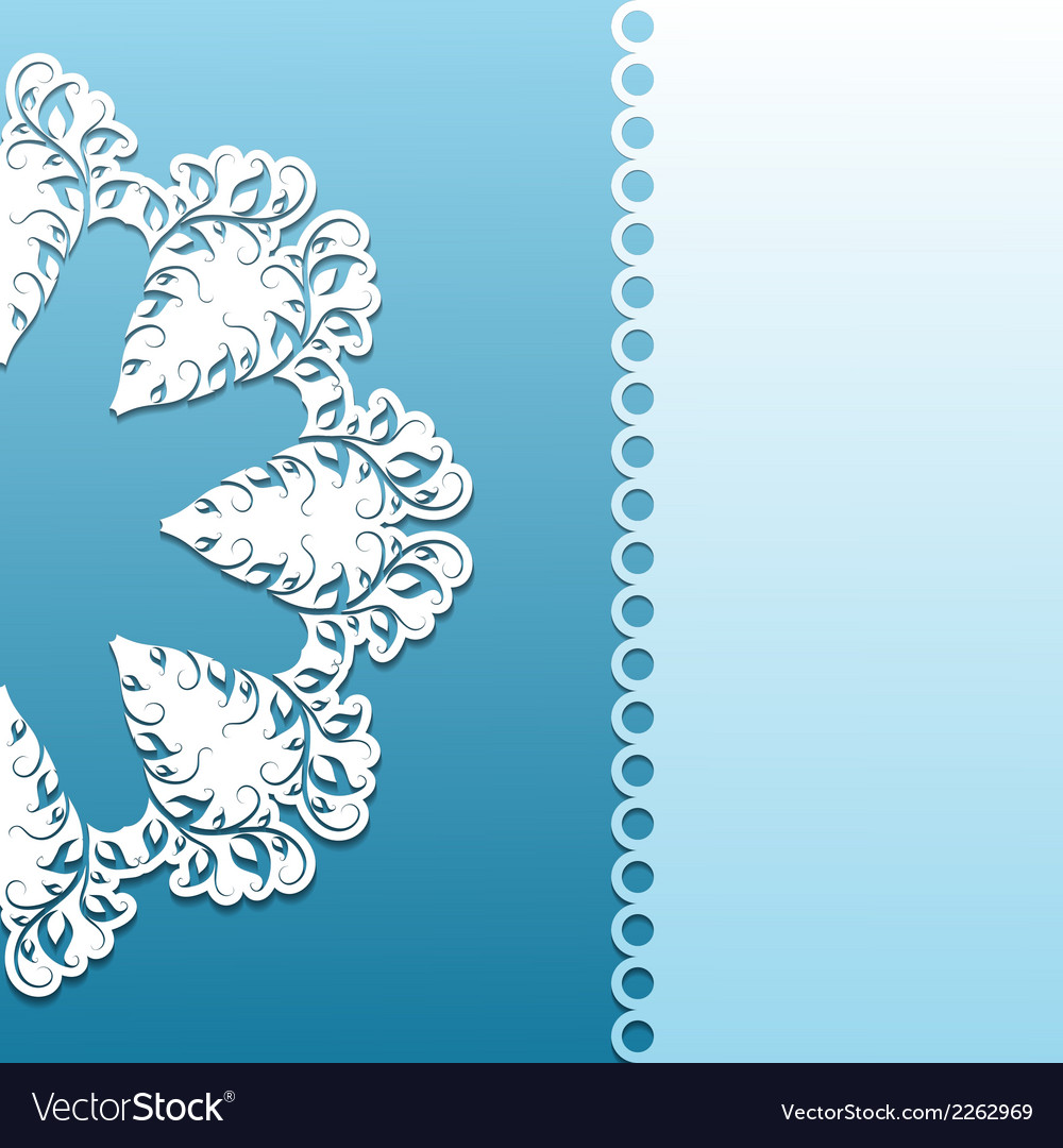 Paper pattern with lace ornament vector | Price: 1 Credit (USD $1)