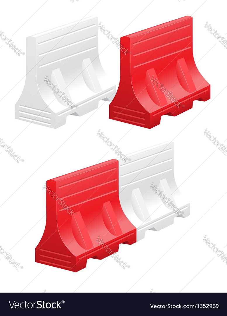 Road barrier 03 vector | Price: 1 Credit (USD $1)