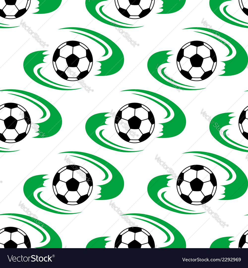 Soccer ball or football seamless pattern vector | Price: 1 Credit (USD $1)