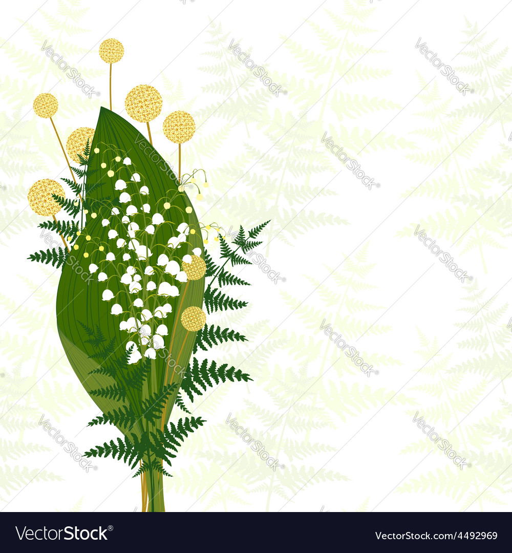 Springtime white lily of the valley vector | Price: 1 Credit (USD $1)