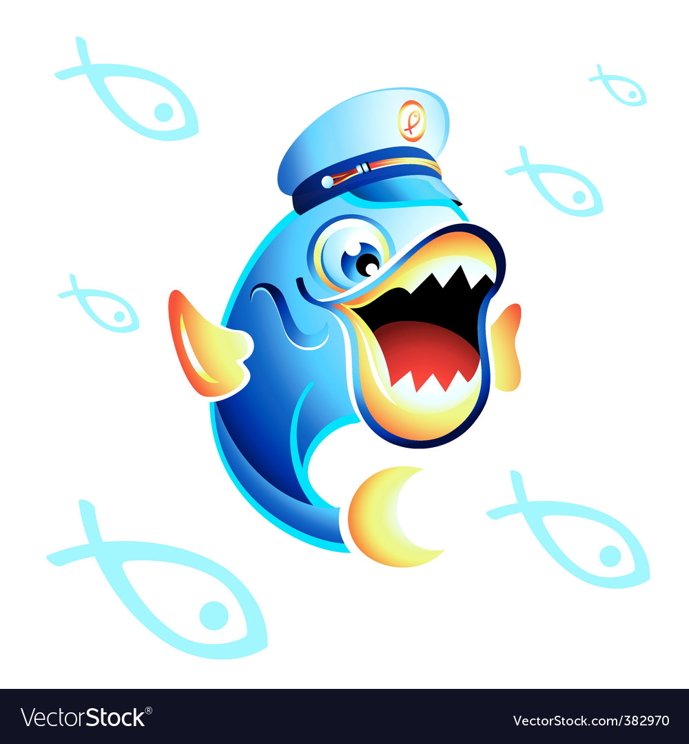 Captain fish vector | Price: 3 Credit (USD $3)