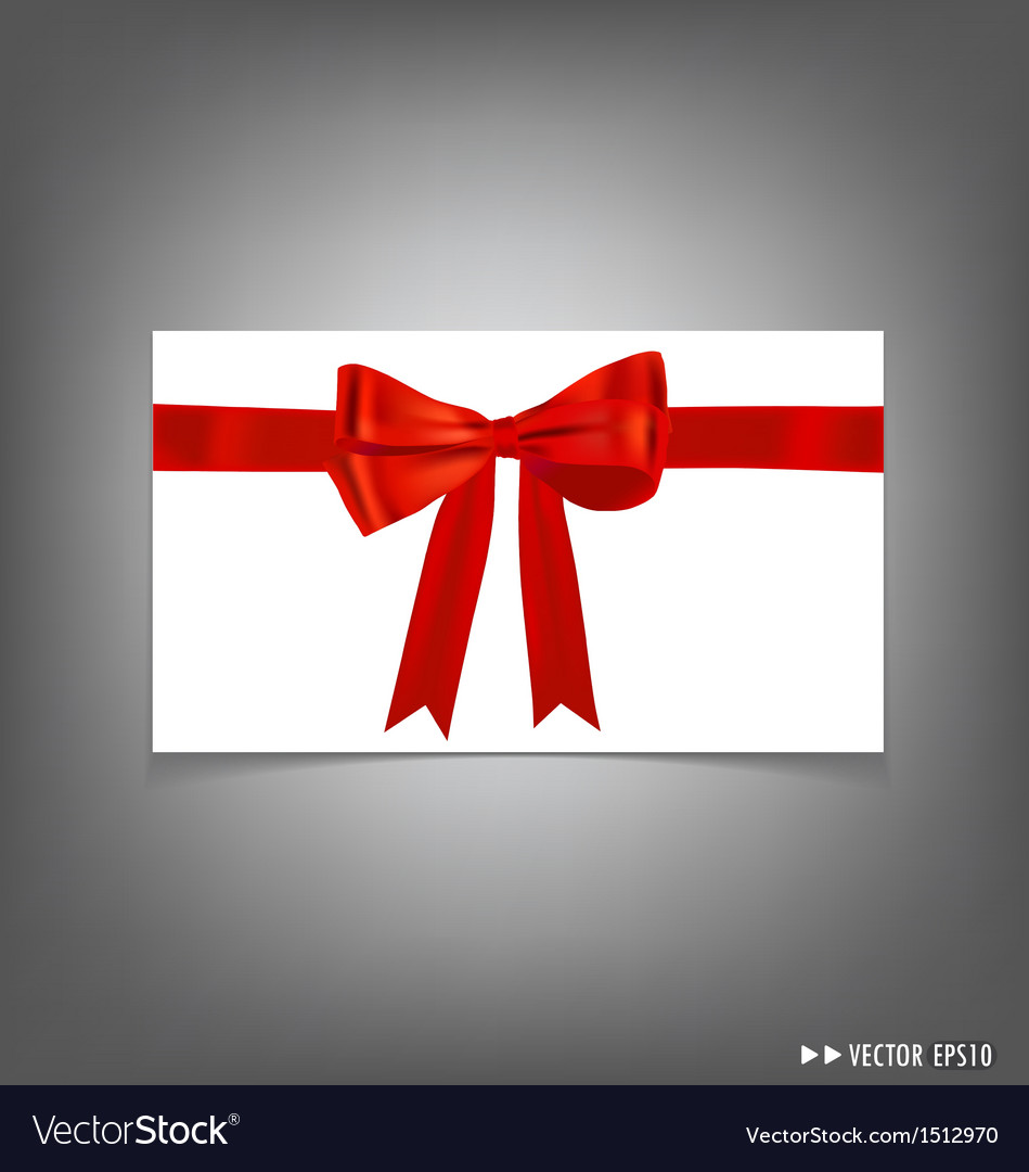 Card with red ribbons bows vector | Price: 1 Credit (USD $1)