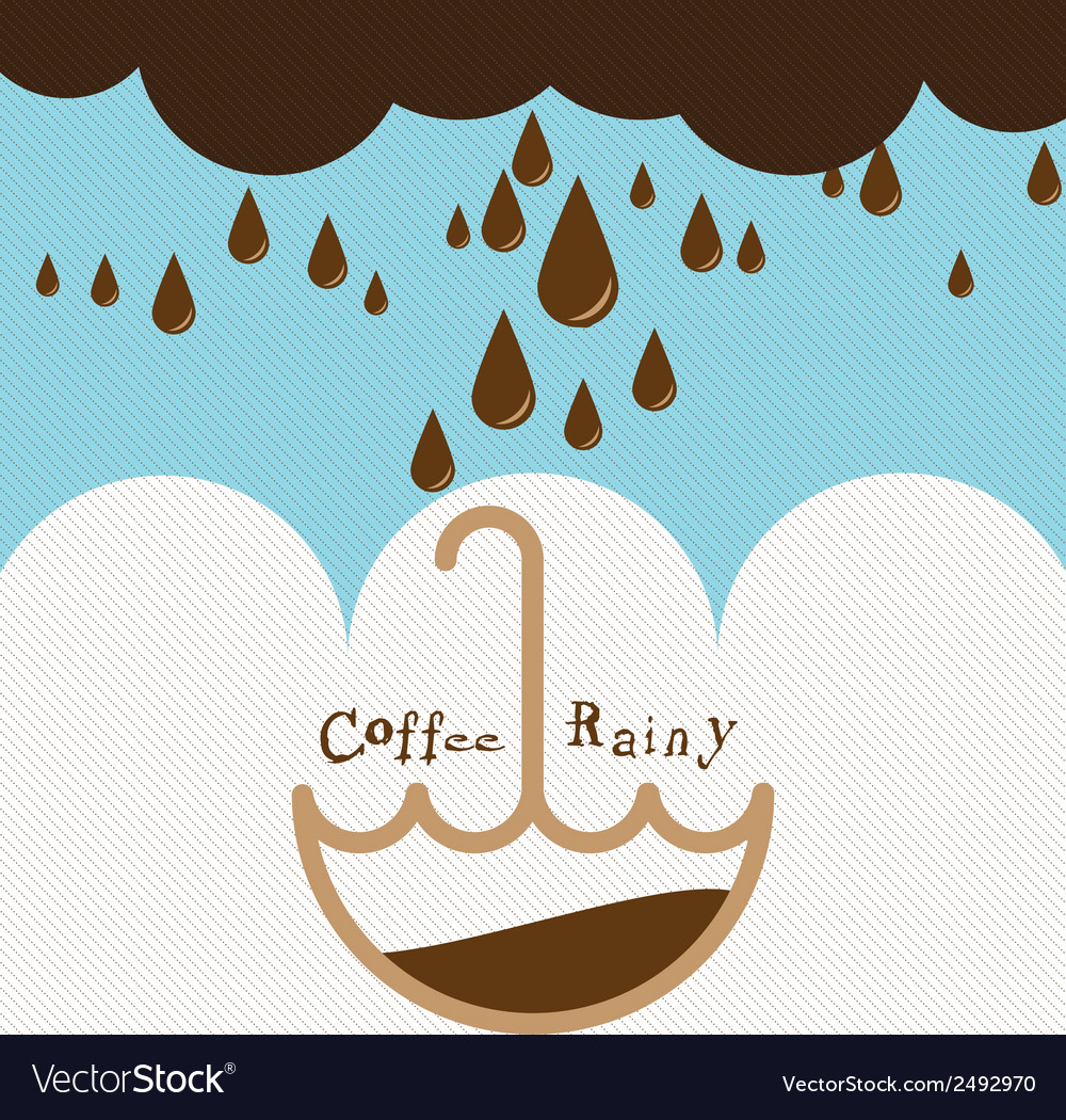 Coffee rainy vector | Price: 1 Credit (USD $1)