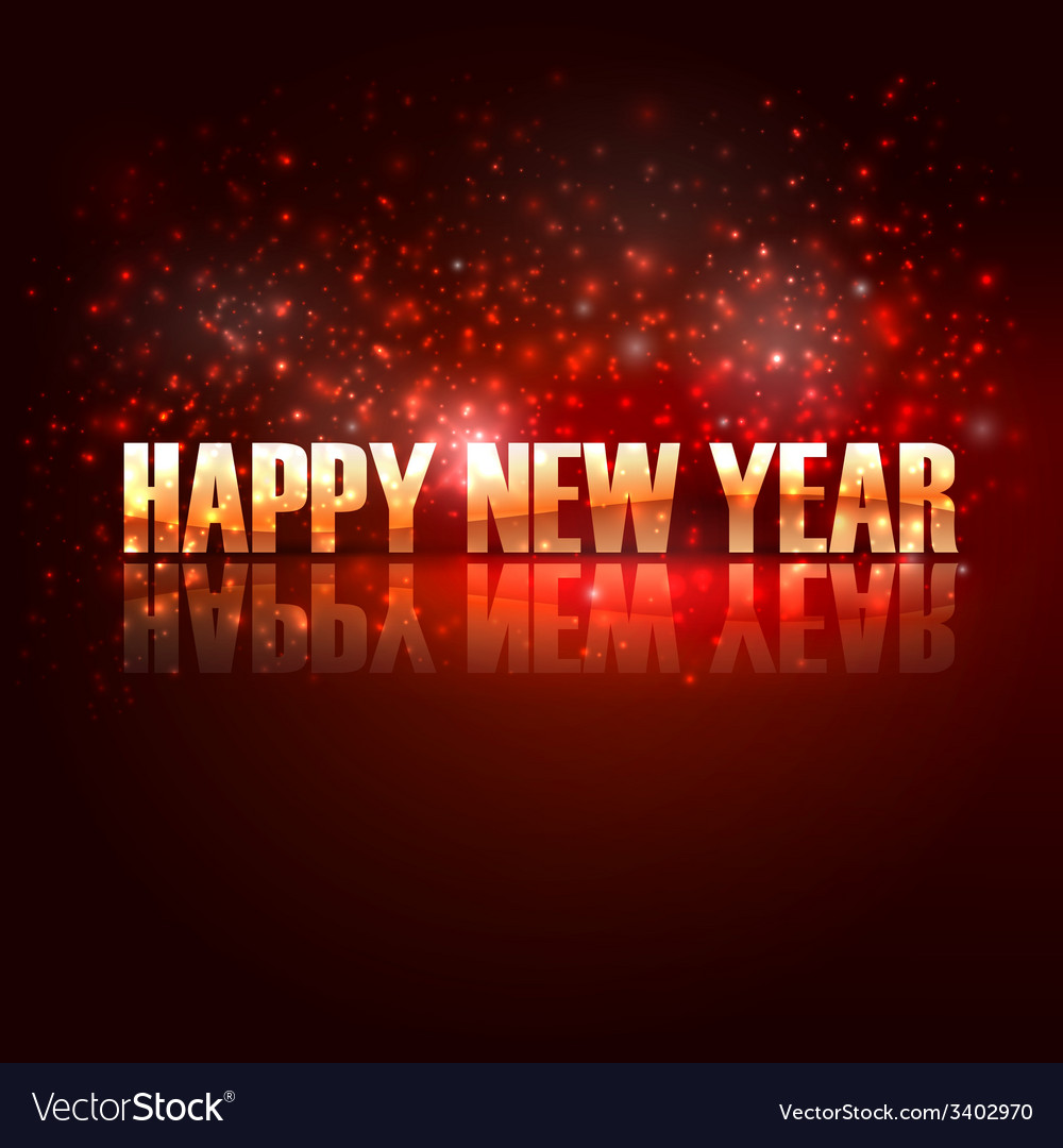 Happy new year holiday background with golden text vector | Price: 1 Credit (USD $1)