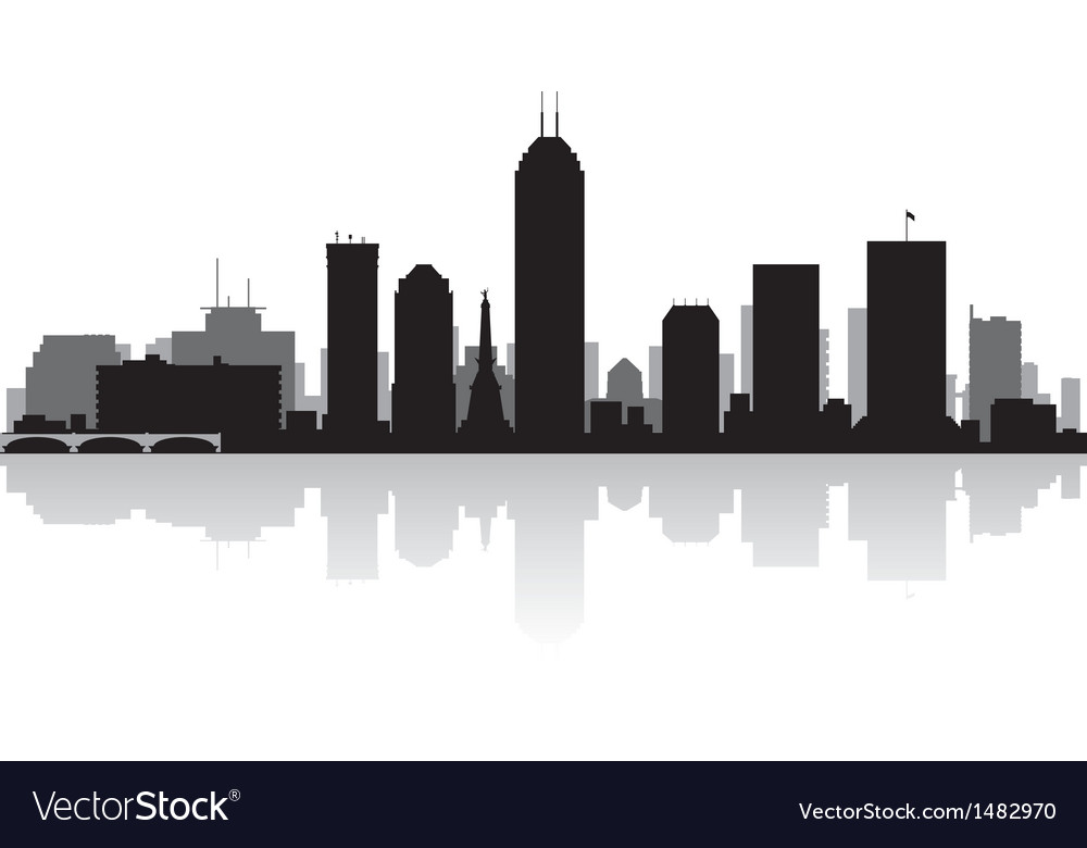 Indianapolis usa city skyline silhouette vector | Price: 1 Credit (USD $1)