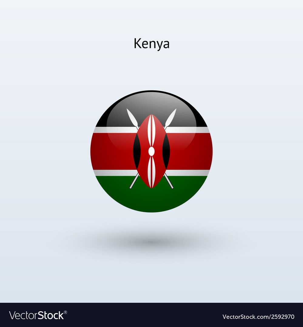 Kenya round flag vector | Price: 1 Credit (USD $1)