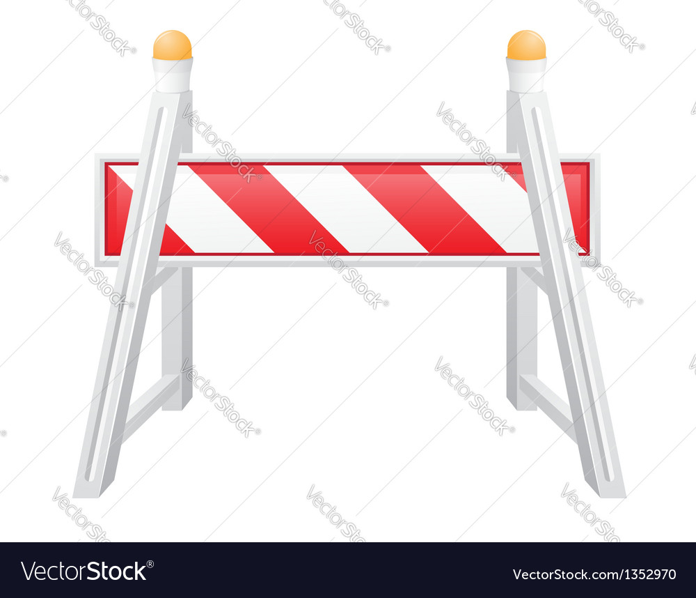 Road barrier 04 vector | Price: 1 Credit (USD $1)