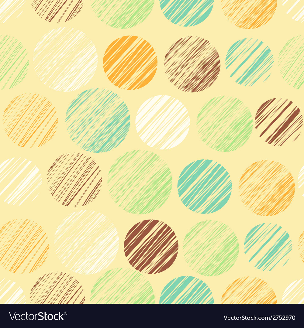 Seamless pattern with circle elements vector | Price: 1 Credit (USD $1)