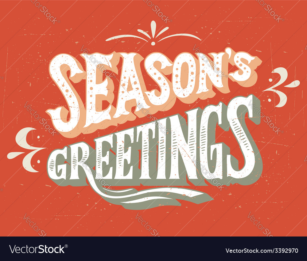 Seasons greetings hand-lettering vector | Price: 1 Credit (USD $1)