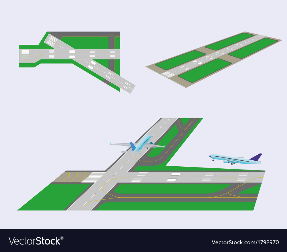 Set runways vector | Price: 1 Credit (USD $1)