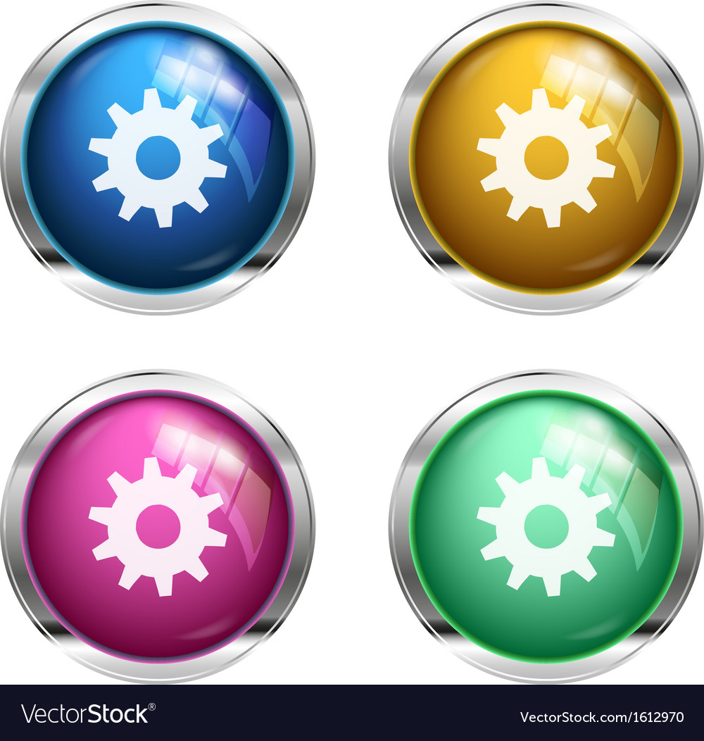 Settings cogwheel button vector | Price: 1 Credit (USD $1)