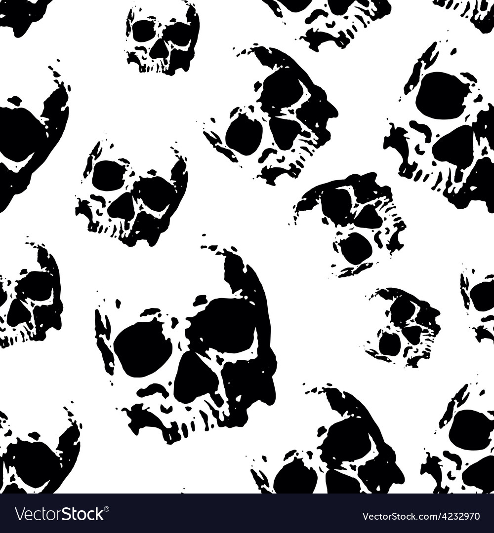 Skull seamless pattern vector | Price: 1 Credit (USD $1)
