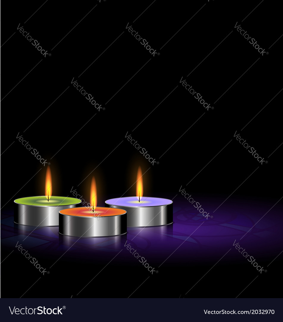 Small candles vector | Price: 1 Credit (USD $1)