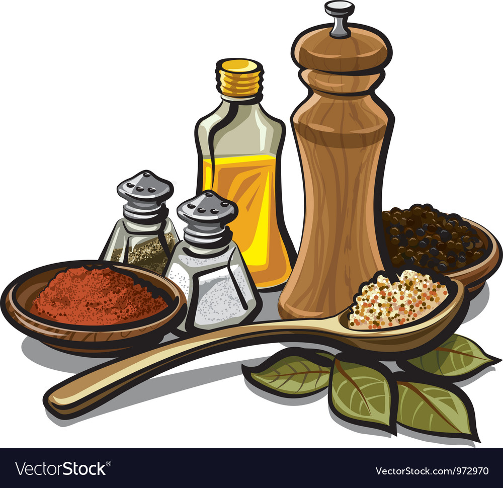 Spices and oil vector | Price: 3 Credit (USD $3)