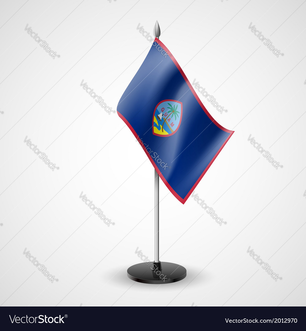 Table flag of guam vector | Price: 1 Credit (USD $1)