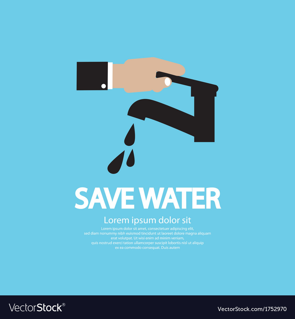 Water conservation conceptual vector | Price: 1 Credit (USD $1)