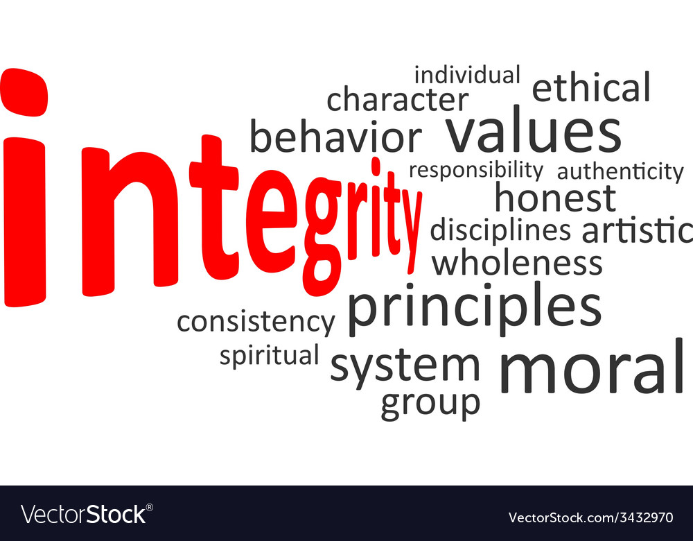 Word cloud integrity vector | Price: 1 Credit (USD $1)