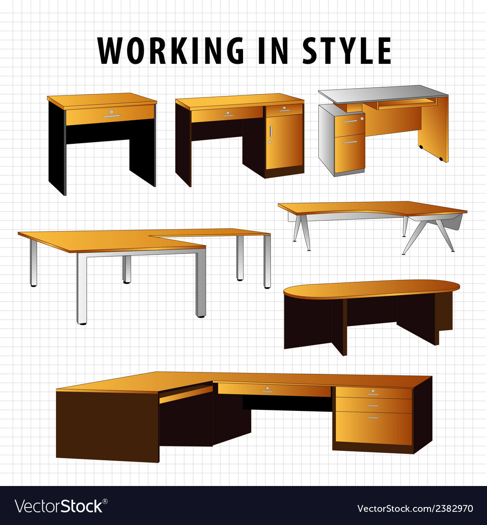 Work table vector | Price: 1 Credit (USD $1)