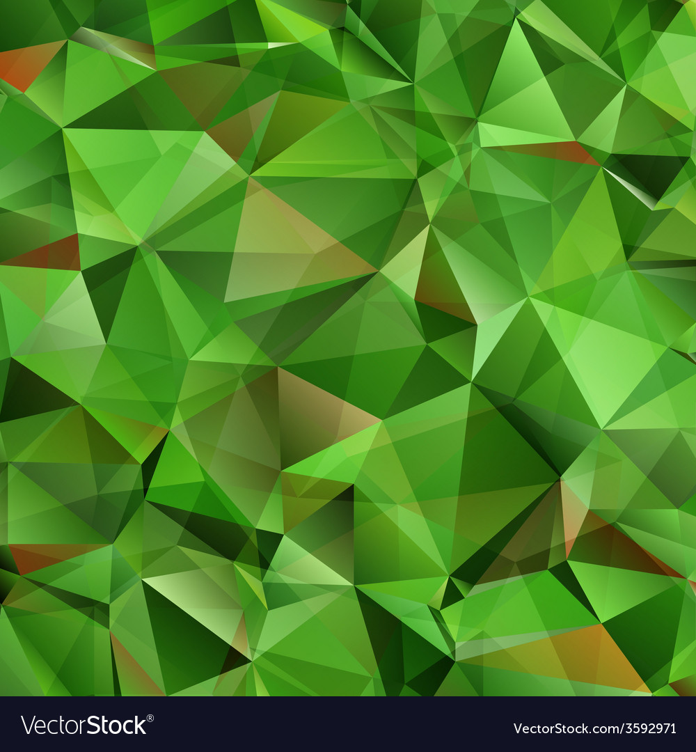 Abstract green triangle background vector | Price: 1 Credit (USD $1)