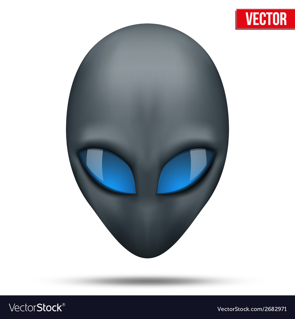 Alien head creature from another world vector | Price: 1 Credit (USD $1)